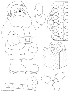 Santa recortable para colorear