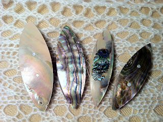 Abalone Tatting Shuttles
