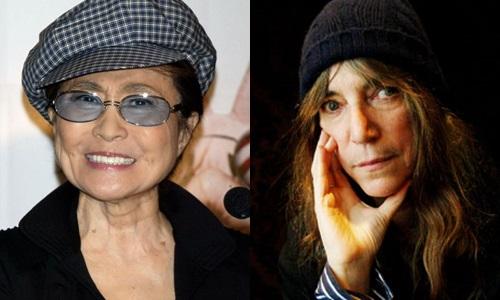 o Calendário Pirelli 2016 A compositora Yoko Ono e a cantora Patti Smith