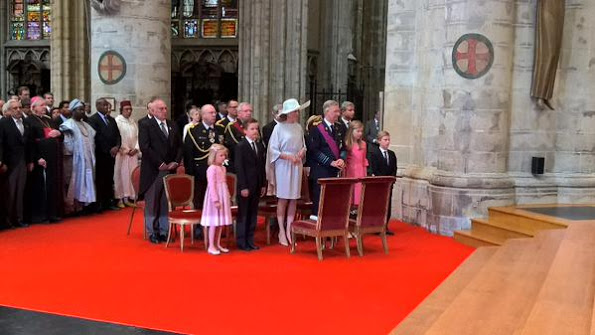 Belgium Royals Attend National Day Te Deum Service In Brussels