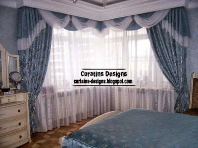 embossed curtain design for bedroom blue Embossed curtain designs and draperies for bedroom, Luxury embossedcurtains
