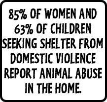 the issue of animal cruelty in homes experiencing child abuse and domestic violence The fbi sees animal cruelty as a predictor of violence against people and considers past animal abuse when profiling serial killers national and state studies have established that from 54 to 71 percent of women seeking shelter from abuse reported that their partners had threatened, injured or killed one or more family pets (anicare model workshop.