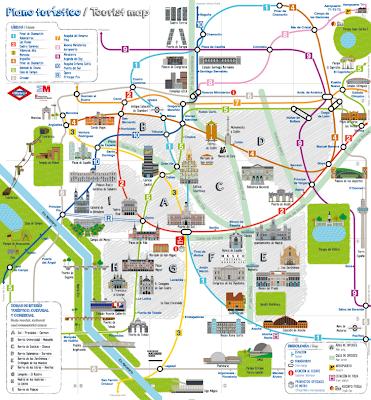 Plano Turístico del Metro de Madrid (2013)