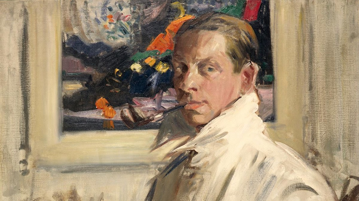 Francis Cadell Self portrait