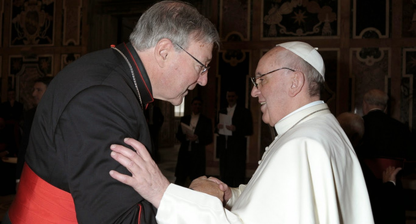 George Pell & Pope Francis.