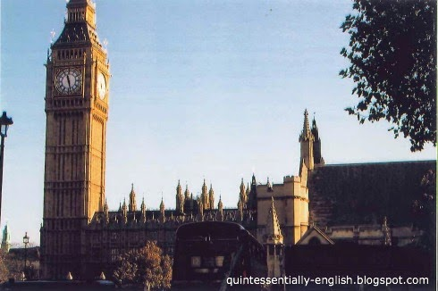 Houses of Parliament and Big Ben in London, England