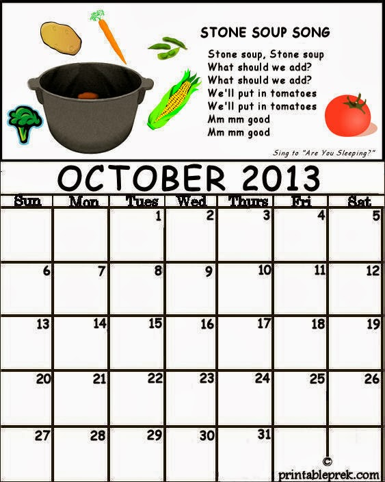 October Calendar Kindergarten : Preschool teacher s resource october calendar for