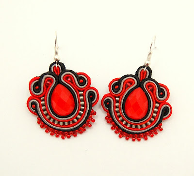 kolczyki sutasz soutache earrings17a