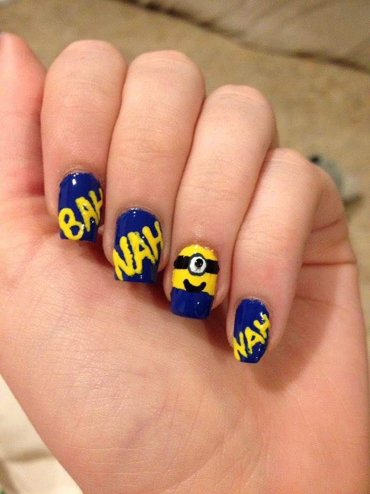 By My Fingertips Despicable Me Minions Nail Art