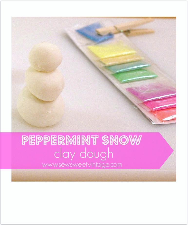 DIY  peppermint play dough