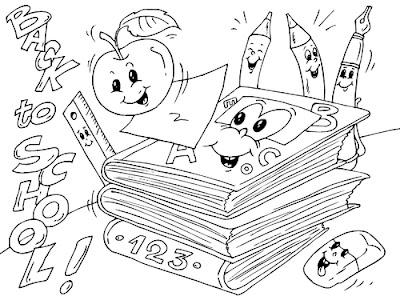 Útiles escolares para colorear y pintar ~ 4 Dibujo