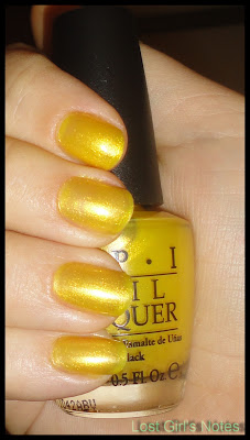 OPI Lemonade stand by your man swatch
