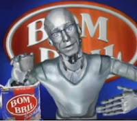 Propaganda da Bombril para o ano 2000 com Carlos Moreno apresentando a novidade para o novo século.