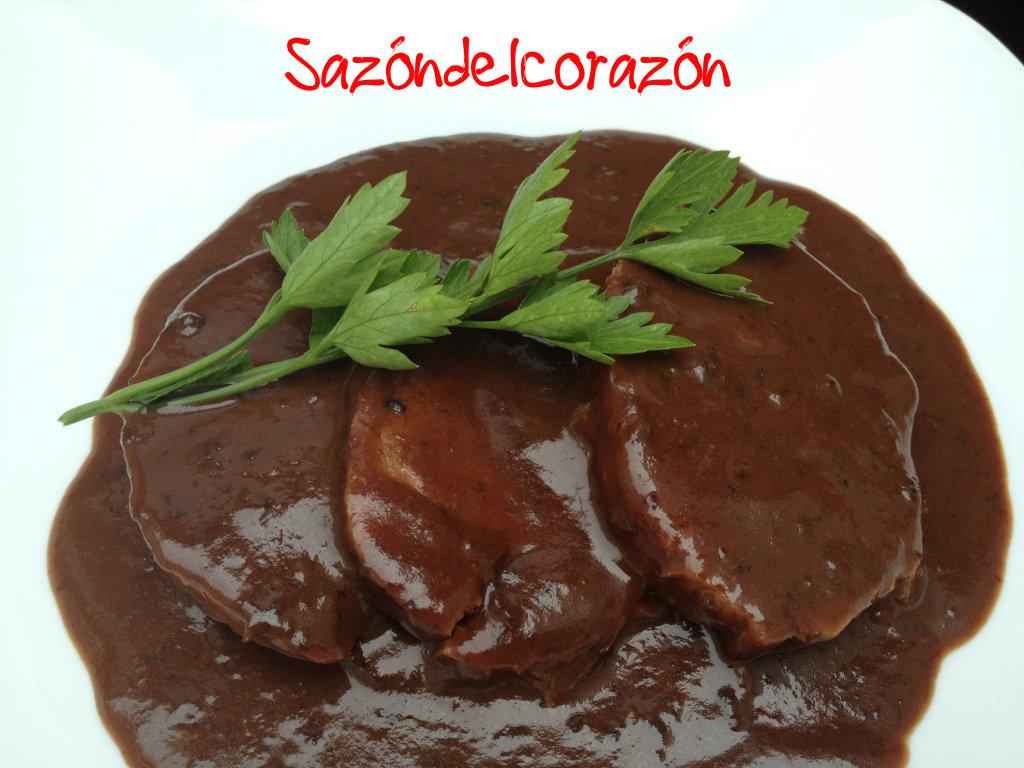 Saz n del coraz n lomo en salsa de ciruela pasa y chocolate - Carne con ciruelas pasas ...