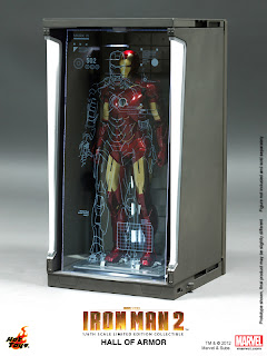 Hot Toys Iron Man Hall of Armor Diorama Display