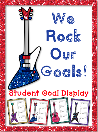 http://www.teacherspayteachers.com/Product/We-Rock-Our-Goals-Student-Goals-Display-1367339