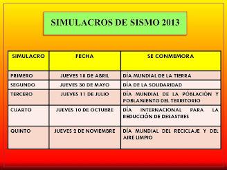 SIMULACROS DE SISMO