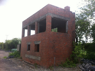Abandoned signal box just south of Old Burghclere station
