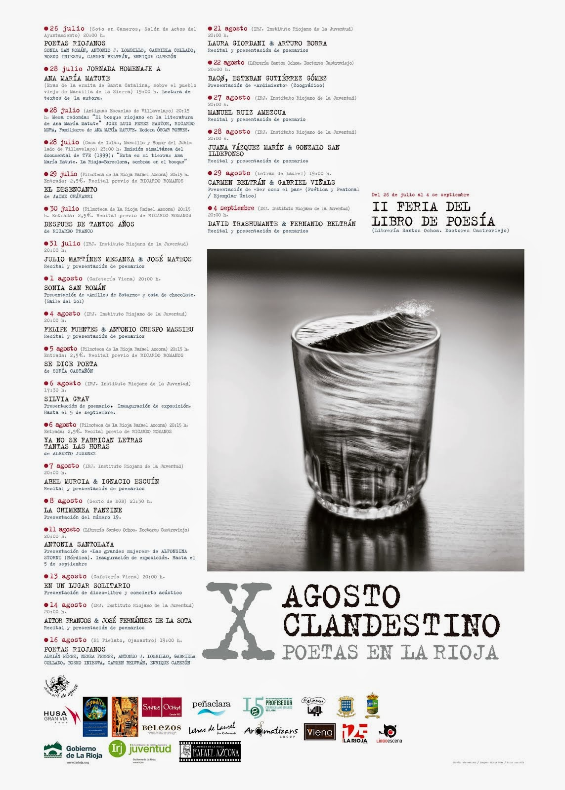 """""""Ardimiento"""", presentación y recital en la décima edición del Festival poético Agosto clandestino"""