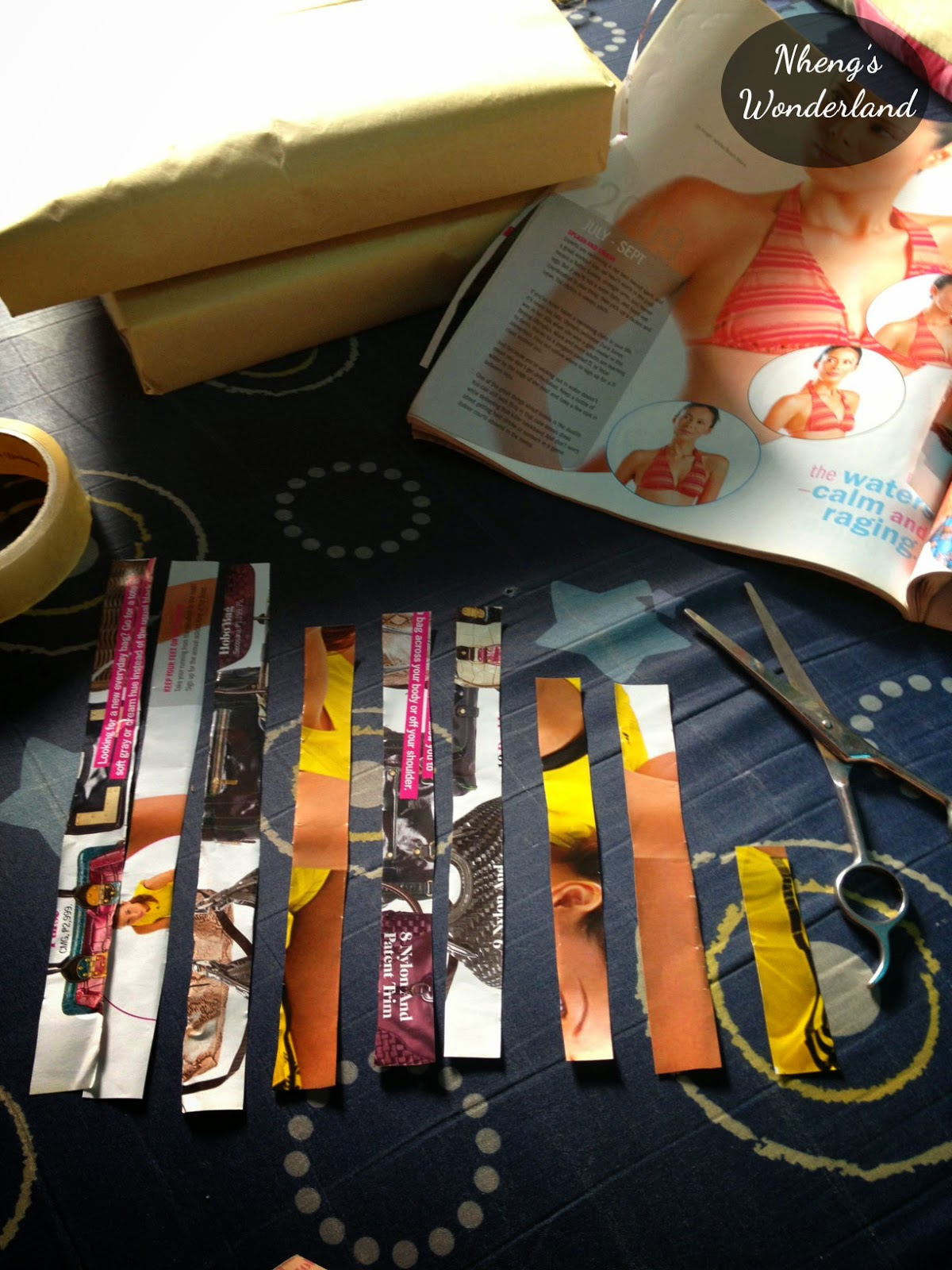DIY Magazine Ribbon Topper for Gifts