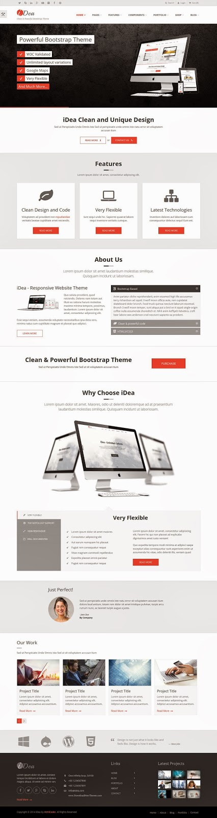 Bootstrap HTML5 Template 2015