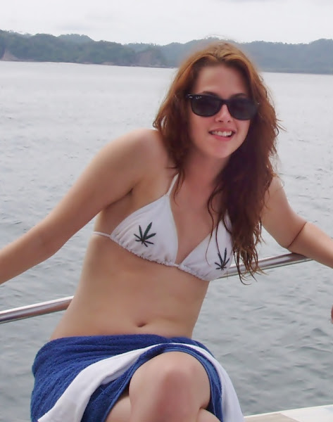kristen stewart in bikini celeb seduction