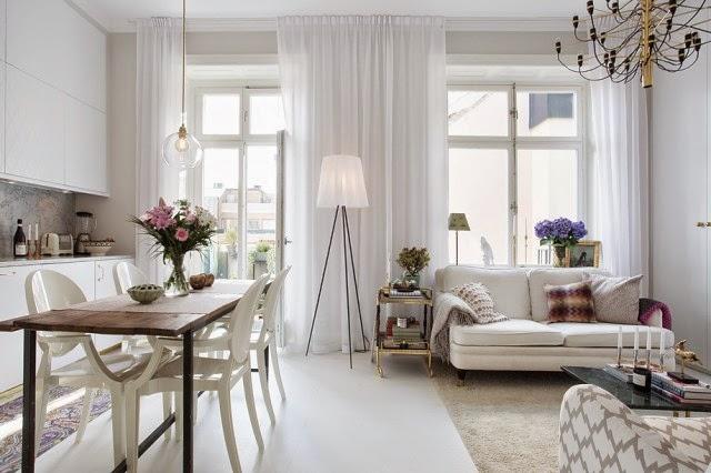 Interior femenino y elegante mini apartamento virlova for M s mobiliario auxiliar para tu cocina s l