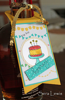 Stampin' Up! Washi Label punch adds wow to this birthday gift tag