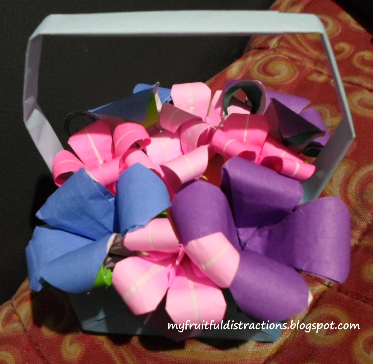 My Fruitful Distractions Origami Flower Bouquets