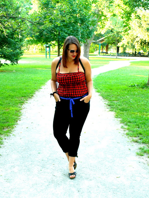 buffalo plaid tank top