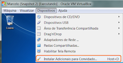 adicionais para convidado virtualbox