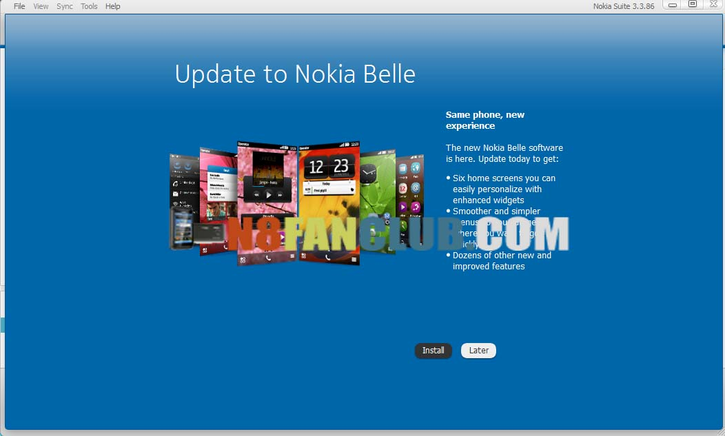 download update for nokia n8