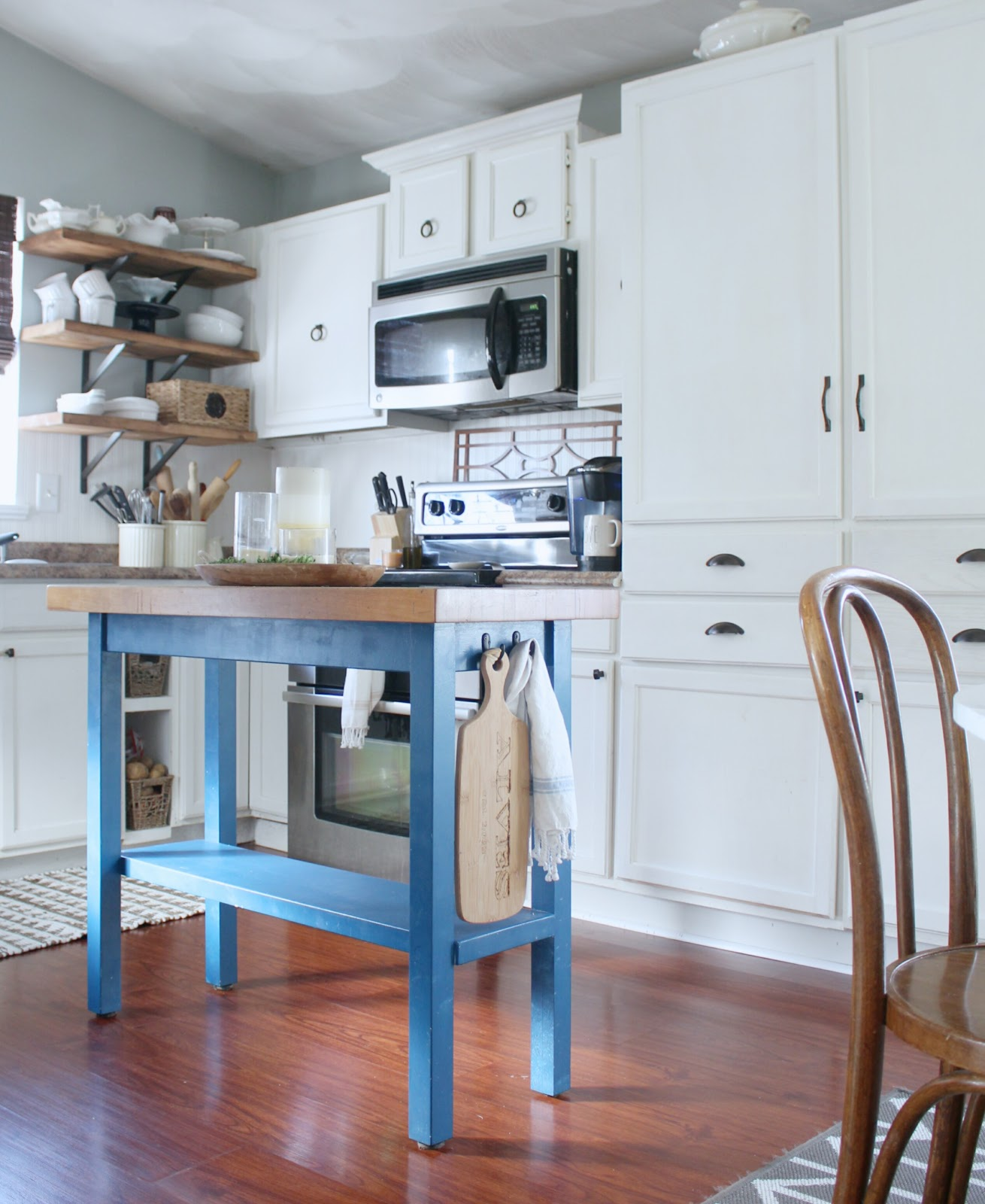 My DIY Kitchen: Adding Inexpensive Storage and Inspiration for My ...