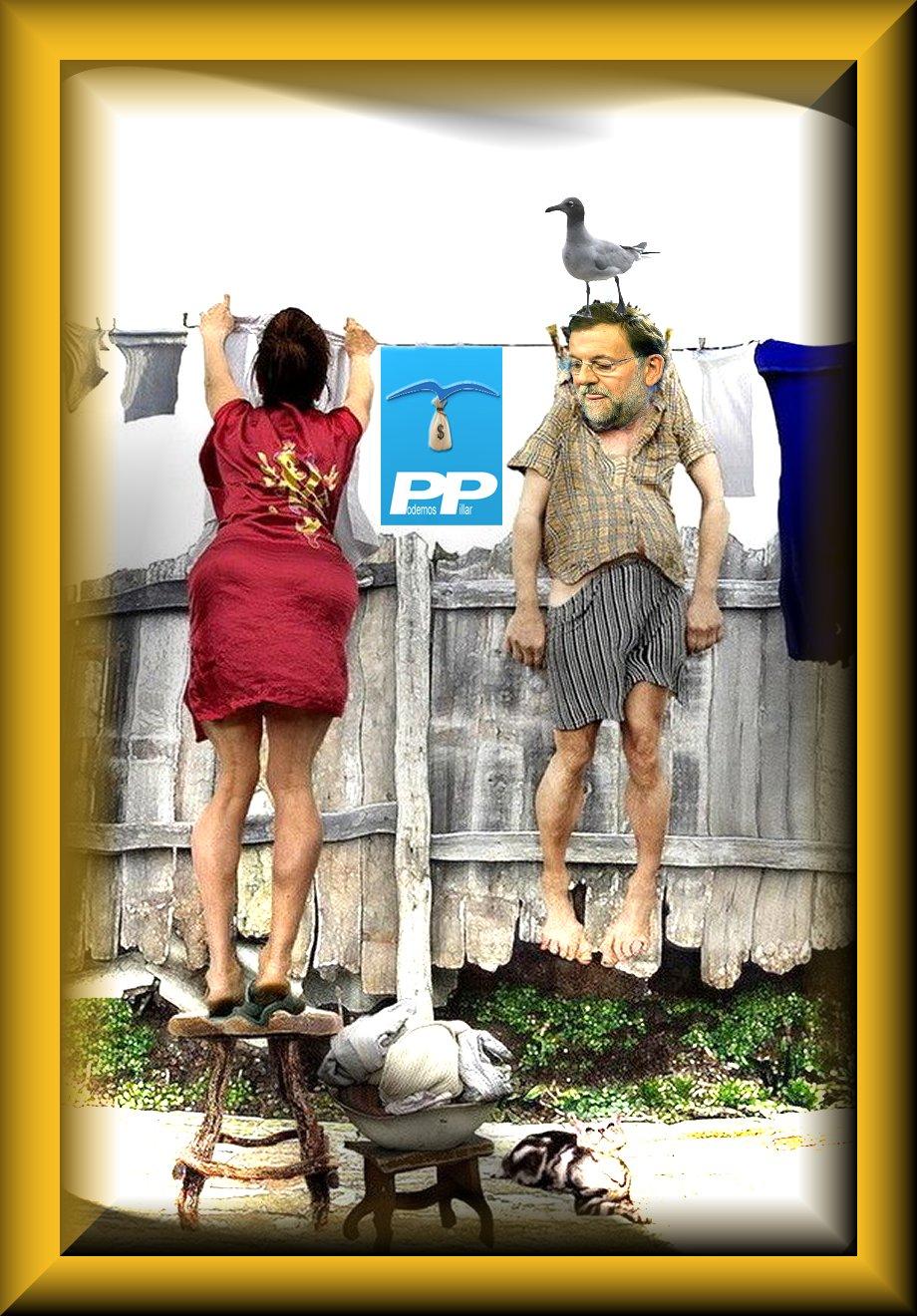 Carteles y fotos trucadas de humor rajoy colgado for Zapateros colgados