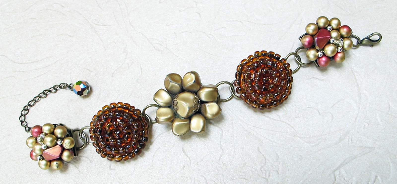 How to make vintage earring bracelet