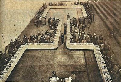 Record de simultáneas de ajedrez de Andrei Lilienthal en Bilbao en 1934