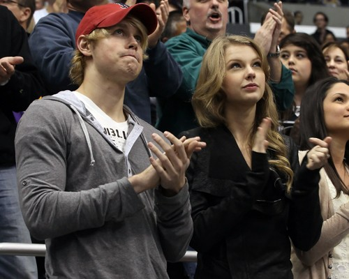 taylor swift and chord overstreet pics. Taylor Swift was spotted at