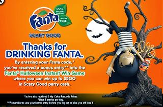Fanta Halloween Instant Win Game
