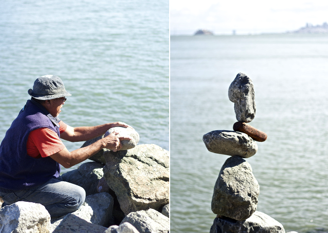 man made rock statues in sausalito, ca