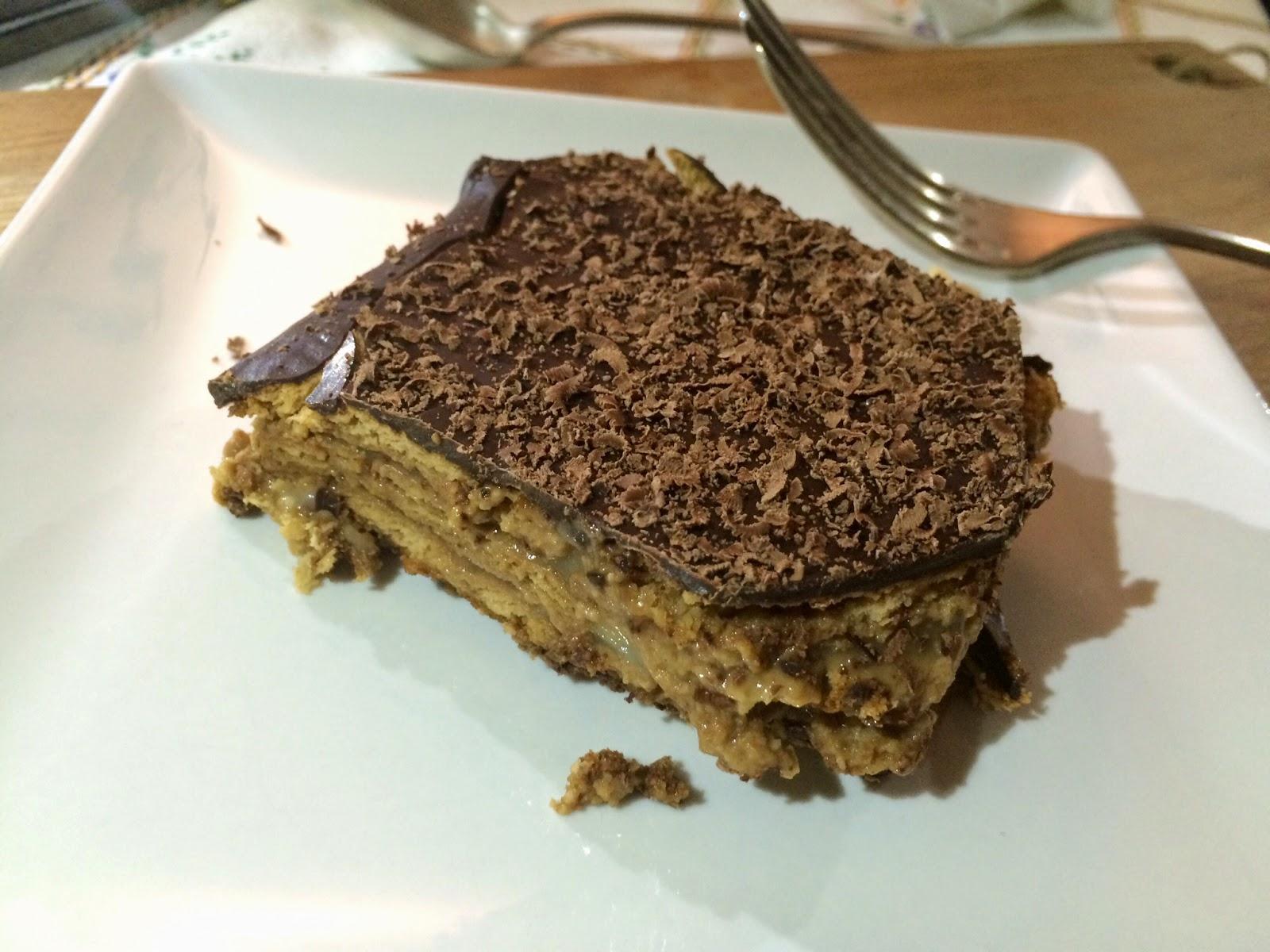 Tarta de galletas y chocolate (menos pesada)