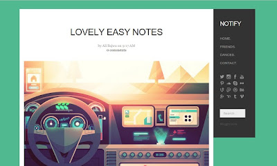 Notify Blogger Template