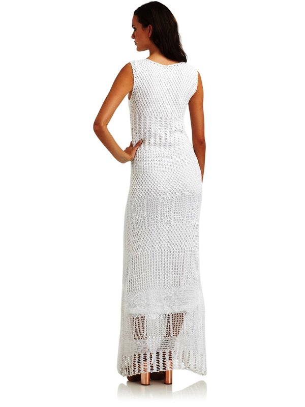 Шикарное элегантное платье крючком. 96138