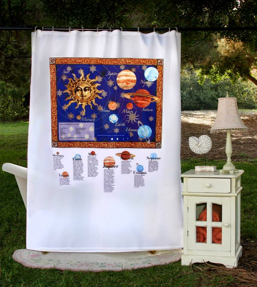WIN This Eco-Friendly Out of This World Shower Curtain: Solar System! ($43.95).