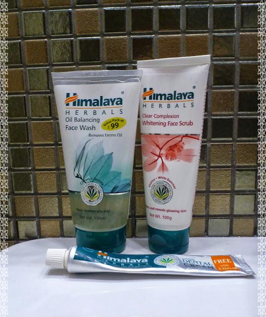 Kosmetyki Himalaya Herbals w mojej łazience - mini recenzje