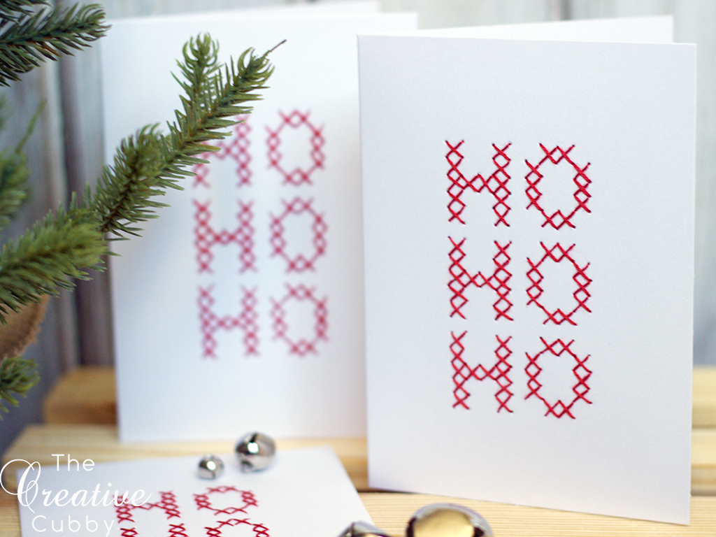 The Creative Cubby In The Shop Hand Embroidered Ho Ho Ho