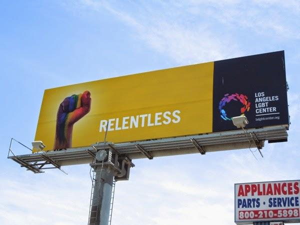 Relentless Los Angeles LGBT Center billboard