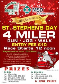 Big 4 mile race in Clonmel on St.Stephens Day