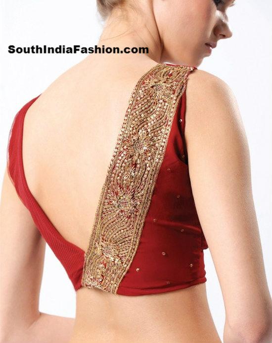 latest blouse back neck designs � south india fashion