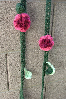 Free Crochet Flower Vine Scarf -- Designs By A Snow Flake