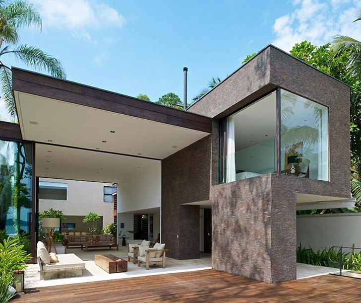 Terrace of Modern beach house in Brazil